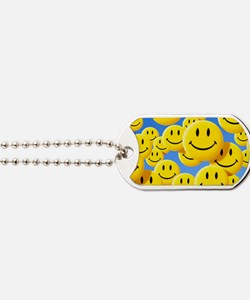 Smiley face symbols Dog Tags