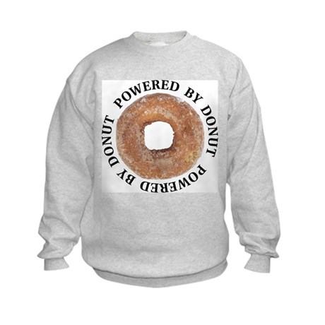 Powered By Donut Kids Sweatshirt