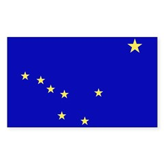 Alaska Flag Rectangle Decal