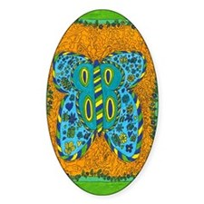 Green Boarder Butterfly Decal
