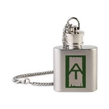 Appalachian Trail White Blaze Flask Necklace