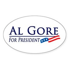 Al Gore for President Oval Decal