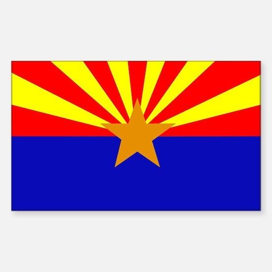 Arizona Flag Rectangle Decal