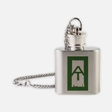 Appalachian Trail White Blaze Flask Necklace