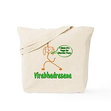 Yoga Warrior Pose Tote Bag