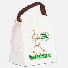 Yoga Warrior Pose Canvas Lunch Bag