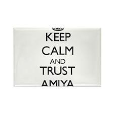 Keep Calm and trust Amiya Magnets