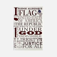 PatrioticPledgeofAllegiance Rectangle Magnet