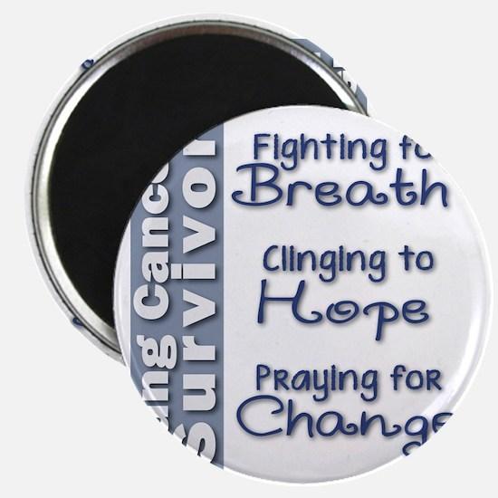 Breathe-Hope-Change Lung Cancer Survivor Magnet
