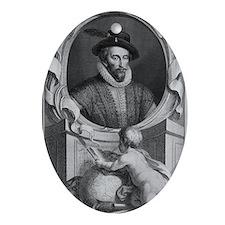 Sir Walter Raleigh, English explorer Oval Ornament