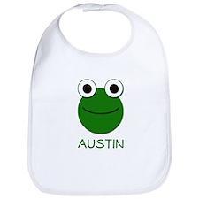 Austin Frog Face Bib