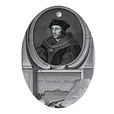 Sir Thomas More, English statesman Oval Ornament