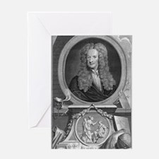 Sir Isaac Newton, English physicist Greeting Card