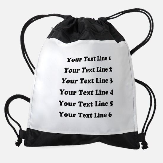 Customize Six Lines Text Drawstring Bag