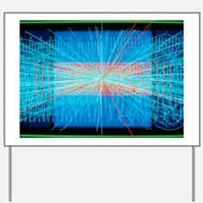 Simulation of Higgs boson production Yard Sign