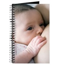 Six week old baby girl breastfeeding Journal
