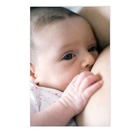 Six week old baby girl br Postcards (Package of 8)