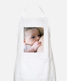 Six week old baby girl breastfeeding Apron