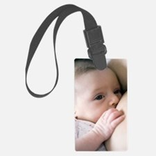 Six week old baby girl breastfee Luggage Tag
