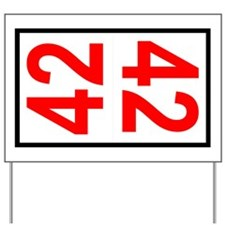 42 Autocross Number Plates Yard Sign
