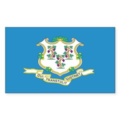 Connecticut Flag Rectangle Decal