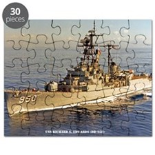 uss rsedwards large framed print Puzzle