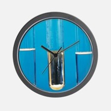 Silver mirror test Wall Clock