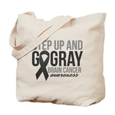 Step Up and Go Gray Tote Bag