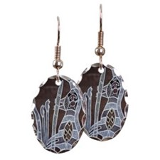 Rock art Earring Oval Charm