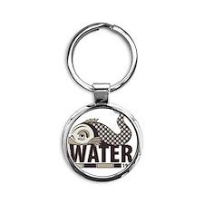 Fish Water Round Keychain