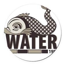 Fish Water Round Car Magnet