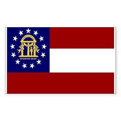 Georgia Flag Rectangle Decal