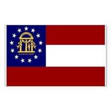 Georgia Flag Rectangle Decal