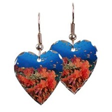 Coral and fish Earring