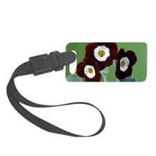 Show auricula 'Old Red Elvet' fl Luggage Tag