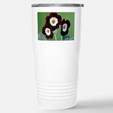 Show auricula 'Old Red Elvet' f Travel Mug