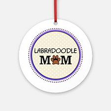 Labradoodle Dog Mom Ornament (Round)