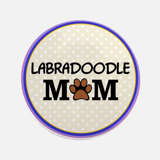 "Labradoodle Dog Mom 3.5"" Button"