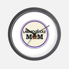 Labradoodle Dog Mom Wall Clock
