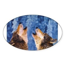 """Howling Wolves"" Rectangle Decal"