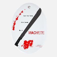 Buy a Machete Oval Ornament