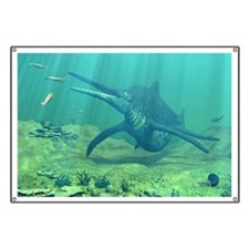 Shonisaurus marine reptile, artwork Banner