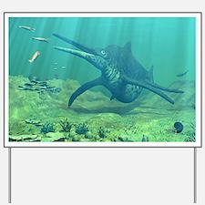 Shonisaurus marine reptile, artwork Yard Sign