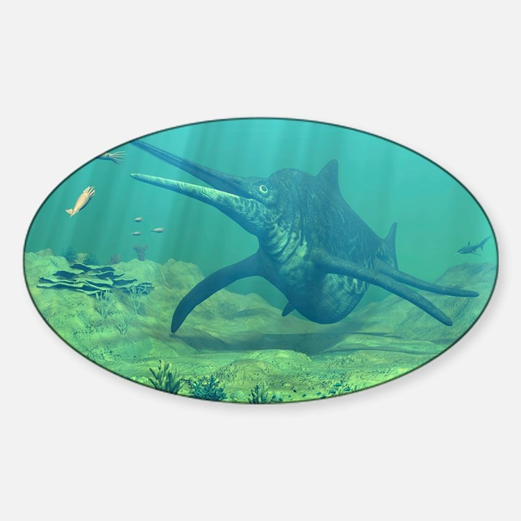 Shonisaurus marine reptile, artwork Decal