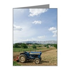 Tractor on farm field, Trets Note Cards (Pk of 10)