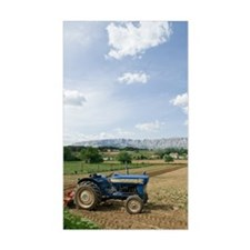Tractor on farm field, Trets,  Decal