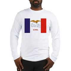 Iowa Flag Long Sleeve T-Shirt