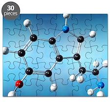 Serotonin neurotransmitter molecule Puzzle