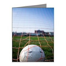 Soccer ball in goal Note Cards (Pk of 20)