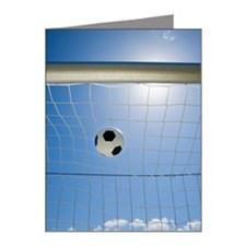 Soccer ball and goal Note Cards (Pk of 20)